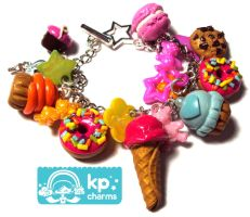 rainbow bracelet by KPcharms