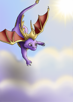 Spyro The Dragon Flying by CosmicSprinkles