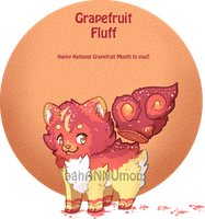 [Adopts] Grapefruit Fluff Auction - CLOSED by banANNUmon