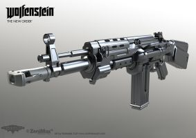 Assault Rifle 1960 Highpoly model by panick