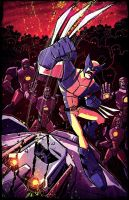 Wolverine VS Sentinels by dcjosh