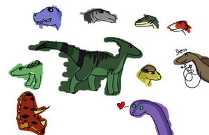 Here have some dino characters by Baerrito