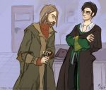 HP_ TSoHW -- Harry and Lupin by periwinkle-blue