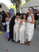 Megara, Hades and The Muses (Hercules) by Groucho91