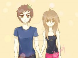 Me, Satchun and my couple Heero :3 by RosseSinner