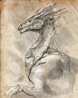 Sketch - Another Dragon by Lumaris
