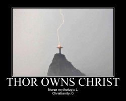 Thor owns Christ by fiskefyren