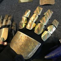 Steampunk Metal Brass Gloves by Phishnetstudio