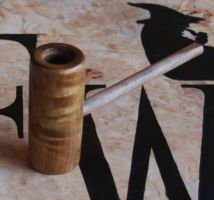 Poker Pipe Highly Figured Exotic Wood by FloggleWerks
