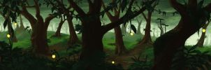 Forest Pan Background by Alrynnas