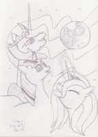 Three Unicorn Moon by mylittlebadzerg