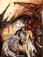 Out of hell. +ink+colour+ by Graveyard-Keeper