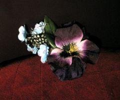 violet pansy hair clip by opioid