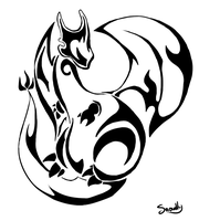 Charizard Tatoo - Tribal by Teenebreuse