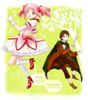 Madoka and Frodo Baggins by nao148