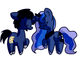 Evil Frenzy and Luna by Zoiby