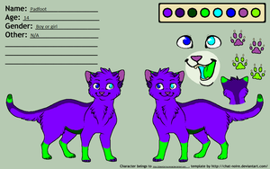 Padfoot Character Sheet by GiecoCarInsurance