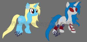 Aneira's pony forms by VioletRoseDragon14