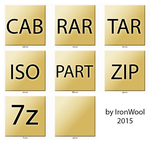 YELLOW PAPER - 7z icons filetypes by ironwool