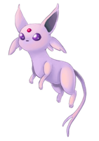 Very little Espeon by Elunian