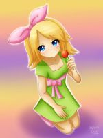 Rin Kagamine : Just a lollipop by LadyGalatee