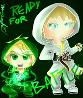 Lloyd and Zane - Ready for battle! by awyeah21