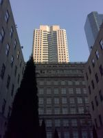 Rockefeller Center from Below 2 by Rayleighev