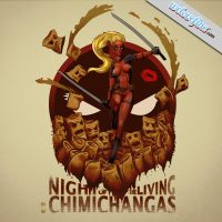 Lady Deadpool - Night of the Living Chimichangas by steevinlove