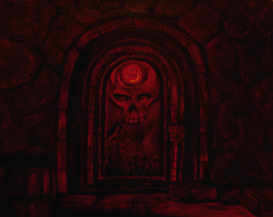 Dark brotherhood Door by SN--ART