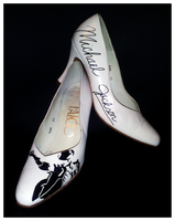 Michael Jackson hand painted shoes by MaryJoArt