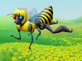 Sollux: Bee a fluffy anthro by kellllly