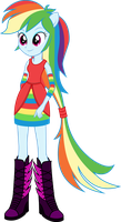 EqG-Rainbow Dash by BirdAlliance