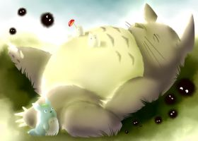 Cochilo do Totoro by Mangadark