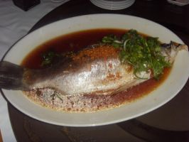 Steamed Sea Bass With Superior Soya Sauce by Gexon