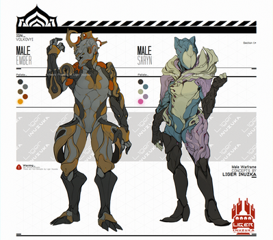 Warframe: Male Ember and Saryn Concept by Liger-Inuzuka