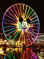 mickeys fun wheel at night by brisingrlegacy