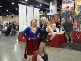 Heroes Con 2013 - Supergirl and Black Canary by NCDamnSam