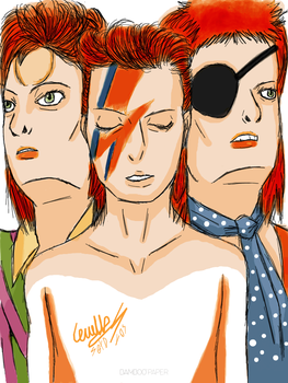 Random Drawing #4 (David Bowie Tribute) by Setdlos