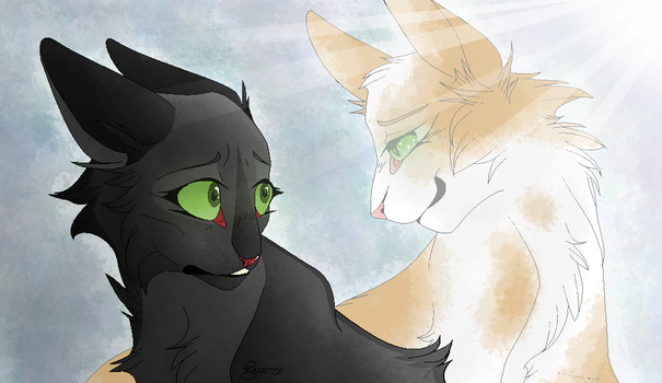 Hollyleaf and Fallen Leaves by CHAR-C0AL