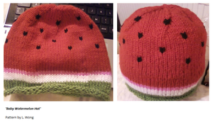 Baby watermelon hat by Stitch-Happy