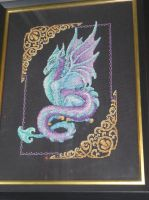 Mythical Dragon Cross Stitch by DRAGONSEEKER789