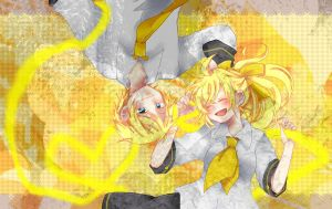 Vocaloid-Rinto and Lenka by ChromaticHearts