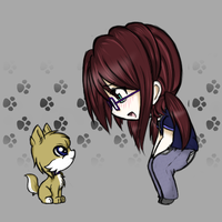 Chibi Carver and Romeo by PKFoxas