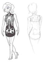 Skeleton Dress Costume Design by Footstepps45
