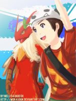 Trainer and his Blaziken by MokaSooN