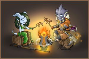 Draenei Weenie Roast by noxychan