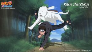 Kiba Inuzuka and Akamaru by donaco
