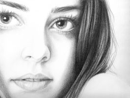Self Portrait Drawing by ArtByOlivia