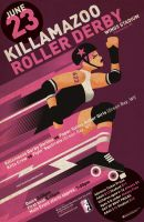 Killamazoo Derby Poster JUNE 2012 by PaulSizer