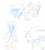 Sonic doodles by SuperSkyseeker